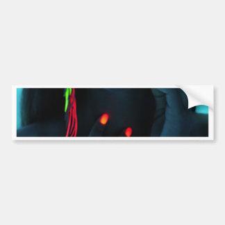 glow car bumper sticker