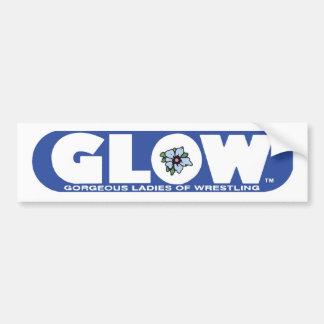 GLOW Bumper Sticker Blue Logo