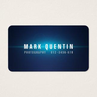 Glow Burst Dark Photography Business Card