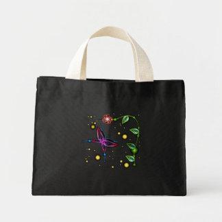 glow butterfly mini tote bag