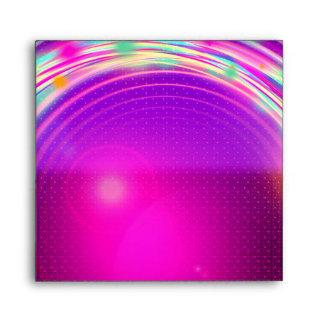 Glow Circles & Stars Birthday Party Envelopes