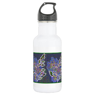Glow edge photo water bottle
