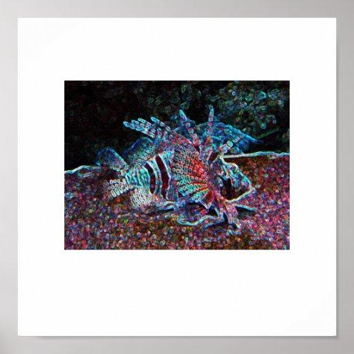 glow fish print