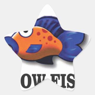 glow fish star sticker
