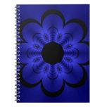 Glow Floral Blue Journals
