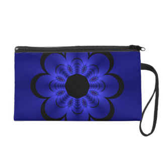 Glow Floral Blue Wristlet