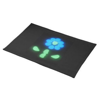 Glow Flower Power 1 Cloth Placemat
