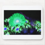 Glow Flowers Mouse Pad