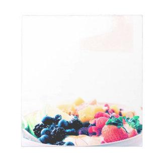 Glow Fruit Bowl Breakfast Food Snack Nutrition Die Notepad