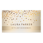 Glow Glitter Gold Elegant Background Double-Sided Standard Business Cards (Pack Of 100)