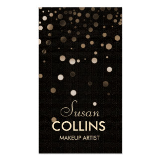 Glow Glitter Sparkle Gold Makeup Artist Fashion Double-Sided Standard Business Cards (Pack Of 100)