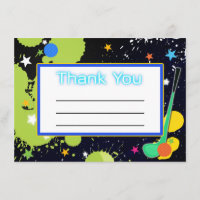 Glow Golf Birthday Party THANK YOU card
