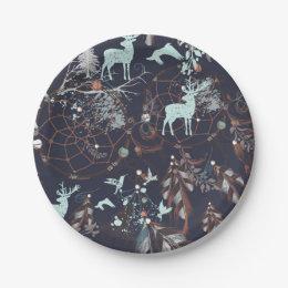 Glow in dark nature boho tribal pattern paper plate  sc 1 st  Zazzle & Glow In The Dark Plates | Zazzle