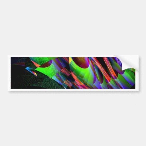 Glow in the Dark Abstract.JPG Car Bumper Sticker
