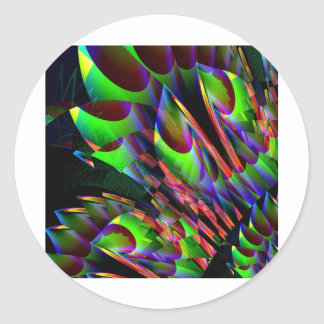 Glow in the Dark Abstract.JPG Classic Round Sticker