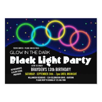 Glow in the Dark Birthday Party Invitations