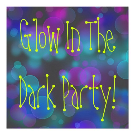Glow Birthday Invitations with nice invitation template