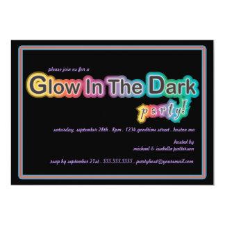 "Glow in the Dark Blacklight Party Invitation 5"" X 7"" Invitation Card"