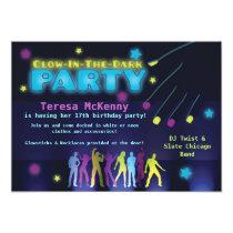 """Glow in the Dark Party Invitation 5"""" X 7"""" Invitation Card"""