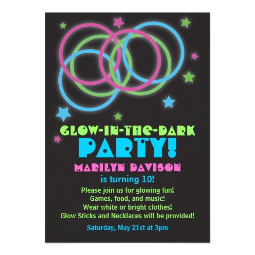 Personalized Rave Invitations CustomInvitations4Ucom
