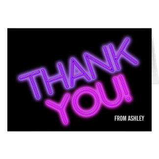 Glow in the Dark Party Thank You Card
