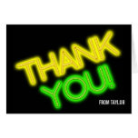 Glow in the Dark Party Thank You Card Note Card