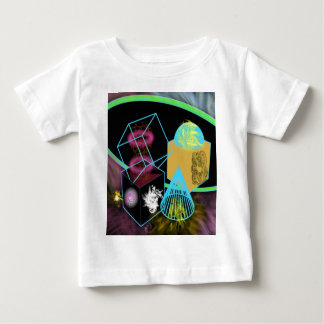 Glow in the dark shapes surrounded by space dust baby T-Shirt