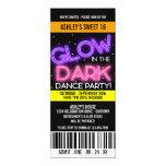 Glow in the Dark Sweet 16 Party Custom Invitations