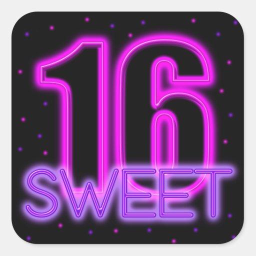 Glow in the Dark Sweet 16 Stickers