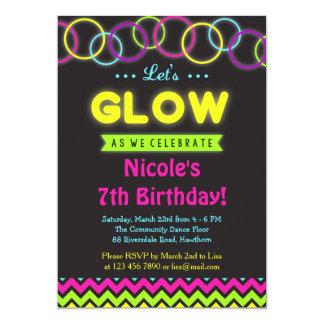 Glow invitation / Glow in the Dark invitation