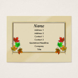 Glow Leaves - Chubby Business Card