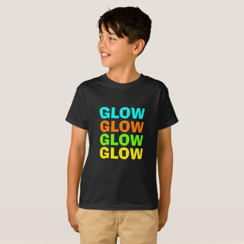 Glow Light Neon Birthday Party T_Shirt