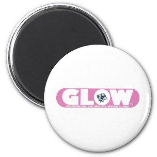 GLOW Magnet Pink Logo
