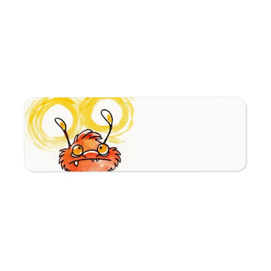 Glow Monster Blank Return Address Label