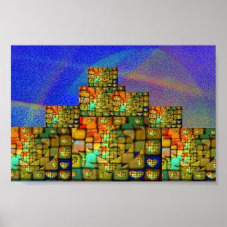 Glow of Heart City Skyline Poster