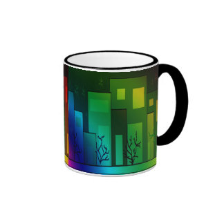 Glow Of The City Ringer Mug