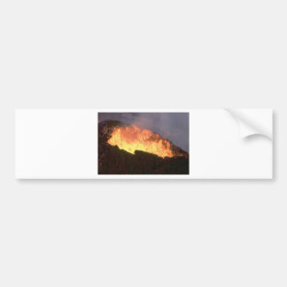 glow of volcanic fire bumper sticker