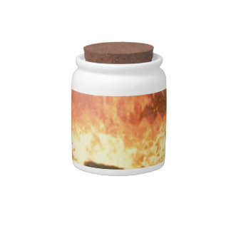 glow of volcanic fire candy jar