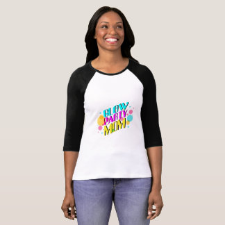 Glow Party Mom Neon Theme 80's Party T-Shirt