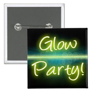 Glow Party, Yellow/Green Blacklight Button