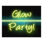 Glow Party, Yellow/Green Blacklight Flyer