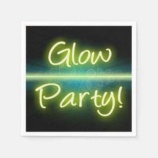 Glow Party, Yellow/Green Blacklight Paper Napkin