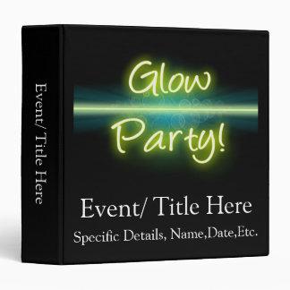 Glow Party, Yellow/Green Blacklight Vinyl Binders