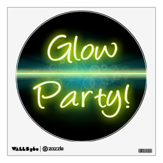 Glow Party, Yellow/Green Blacklight Room Decal