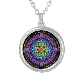 Glow Rainbows Flower Mandala Necklace