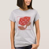 Glow Rose Gray Women's Basic T-Shirt