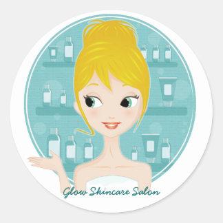 Glow Skincare Salon Classic Round Sticker