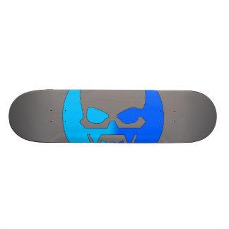 Glow Skull - Blue Skateboard