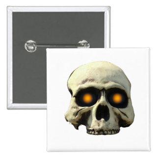 Glow Skull 2 Inch Square Button