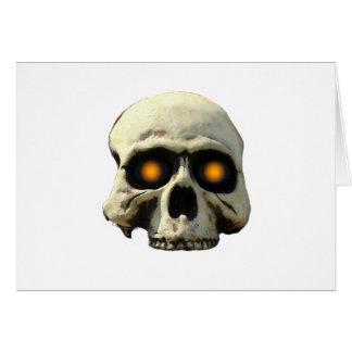 Glow Skull Card